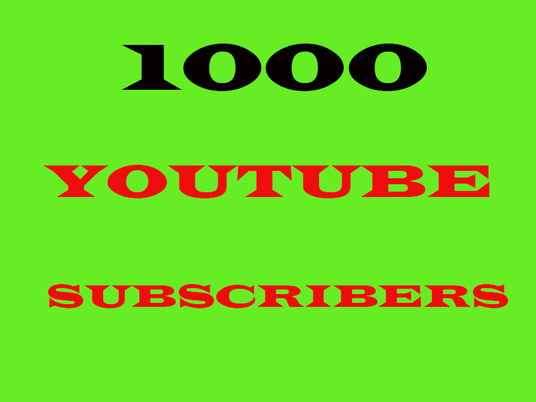 I will  give you 1000 YouTube channel subscribers non drop guaranteed