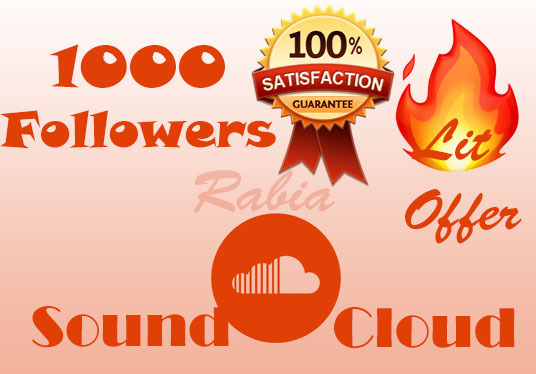 I will Provide Safe 1000 Followers On Soundcloud