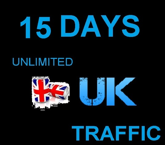 I will send 15 days  unlimited UK TRAFFIC to your  link with live Statistics