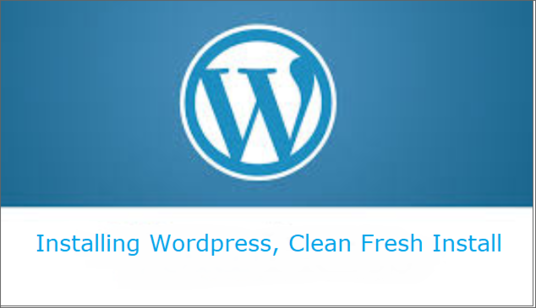 I will Do A Clean Install of WordPress  On Your Hosting Account