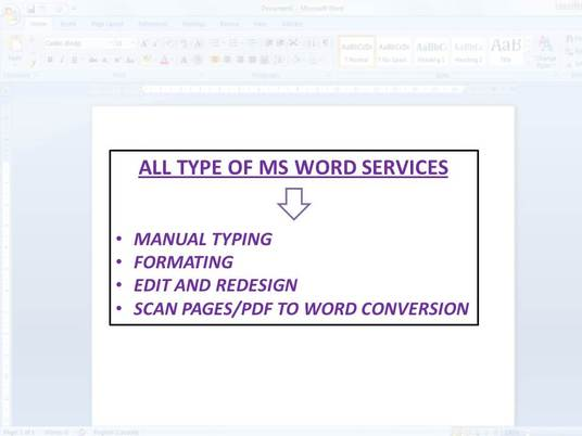 I will edit,format,redesign your word document