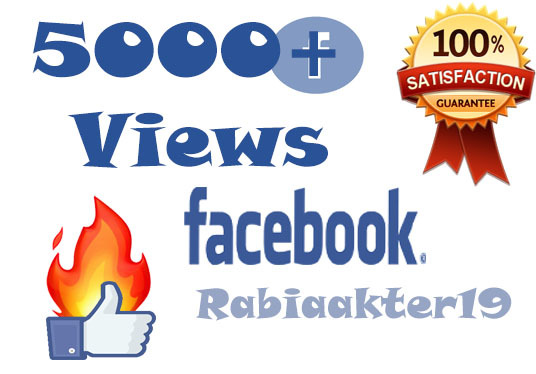 I will Give  Real 5000 Facebook Video Views