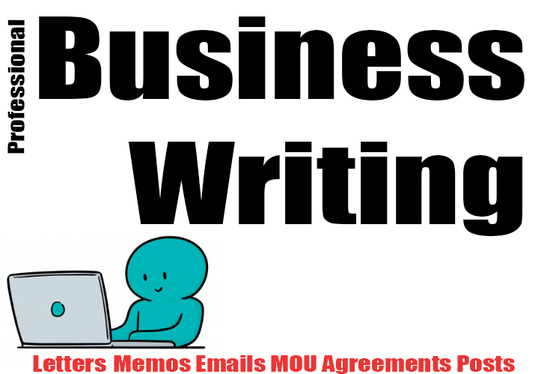rewrite your document in professional 'Business English' suitable for business correspondence