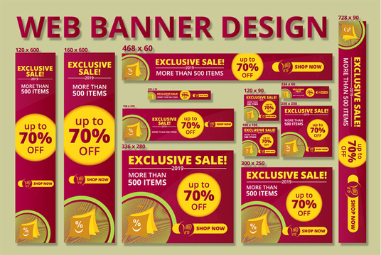 I will Design 12 Professional Web Banner Ads