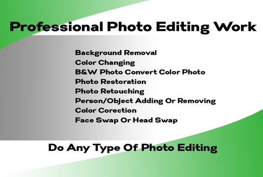 Background Remove,Color Change Or Any Photo Editing Work