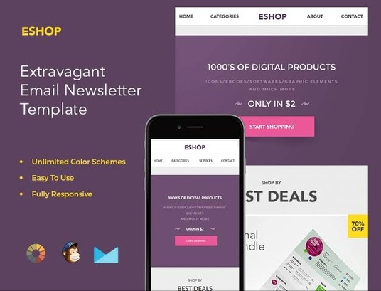 I will design editable mailchimp email template