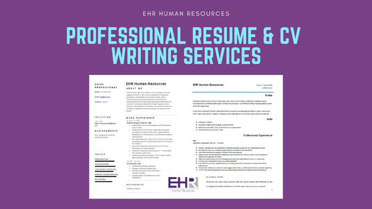 redesign and edit your resume or CV