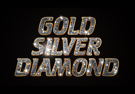 I will create gold or silver diamond glitter logo intro animation