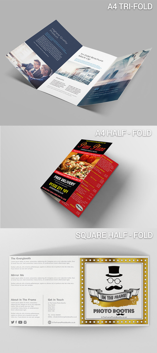 I will design a professional Folded leaflet