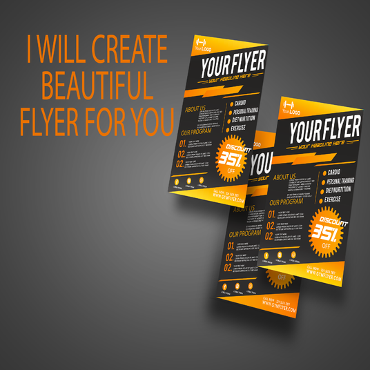 I will design beautiful brochure, booklet, flyer, for your business