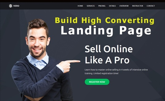 I will create an awesome WordPress landing page or Squeeze page