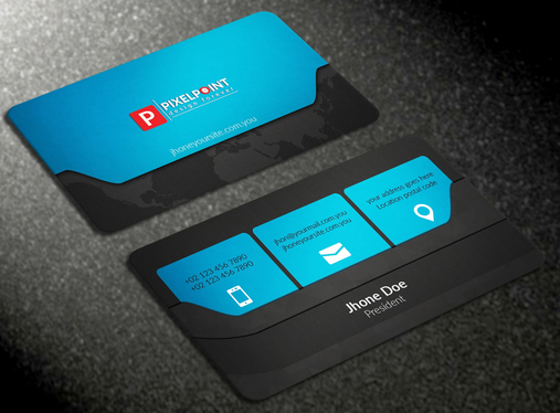 do  professional business card design for you