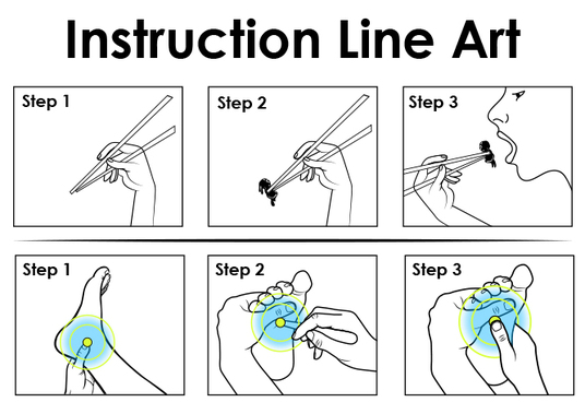 I will Draw Manually Instruction Vector Line Art for you