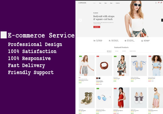 I will create an ecommerce website, online shop for you