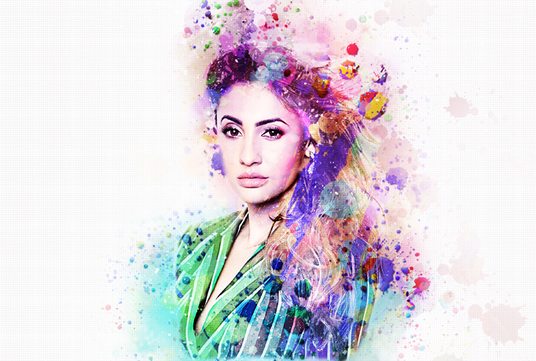 I will edit your photo into an amazing ink splash image