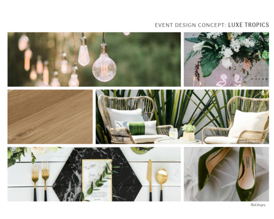 I will create a bespoke Concept & Mood Board to help visualise ideas