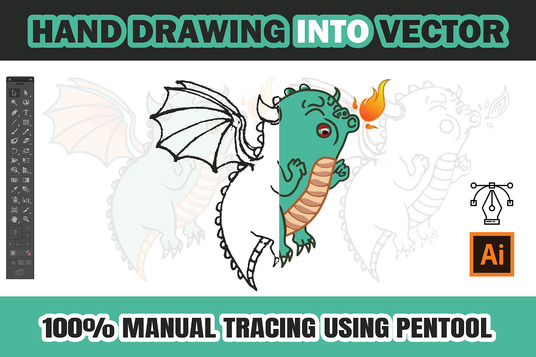 I will Convert Your Logo or Hand Drawing Image Into Vector