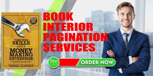 I will Do book interior pagination services