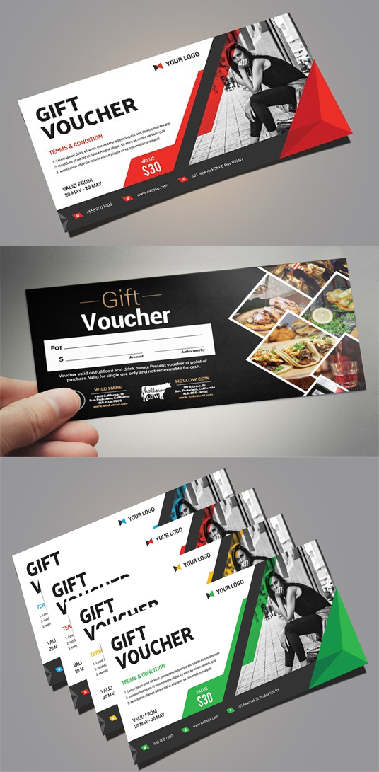 I will Create Gift Voucher, Menu or Flyer