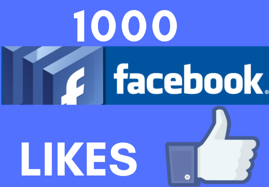 I will provide you 1000 Facebook likes for your Facebook post