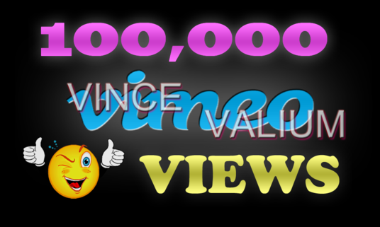 I will Provide 100,000 Vimeo Views To Your Vimeo Video