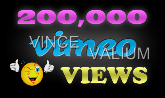I will Provide 200,000 Vimeo Video Views To Your Vimeo Video