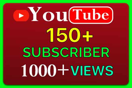 I will Provide Organic YouTube  150+ subscriber & 1000+ views