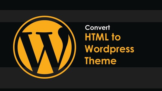 I will covert html to wordpress theme for you