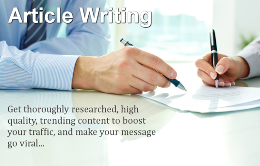 I will write any type of content for your  Webs & Blogs