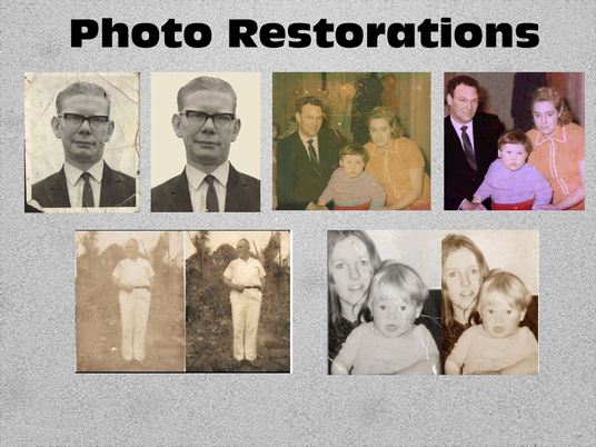 I will restore a photograph for you