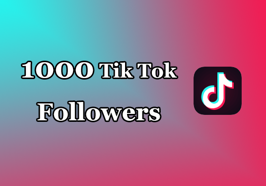 I will provide 1000 tik tok followers Non Drop