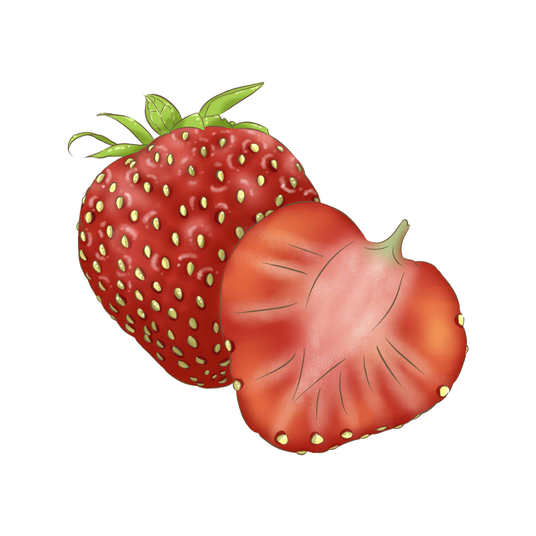 I will draw simple cartoon of fruit and vegetable