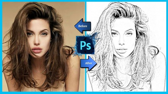 draw your sketch in photoshop