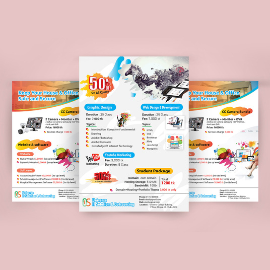 I will do creative flyer & poster for you