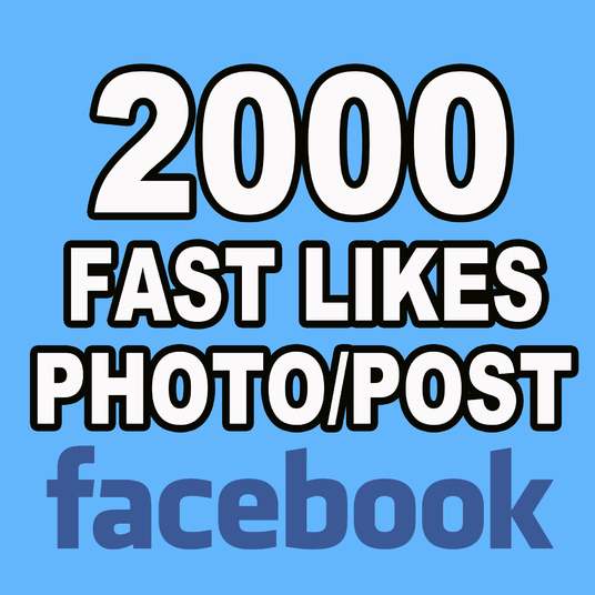 I will add 2000 Likes to your Photo or Post on Facebook Non Drop