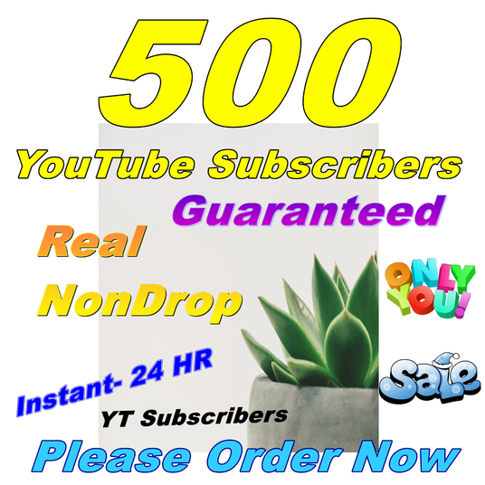 I will Give You Real 500+ YouTube Subscribers Lifetime Guarantee