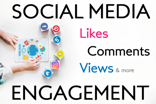 I will provide likes and comments to your social media posts
