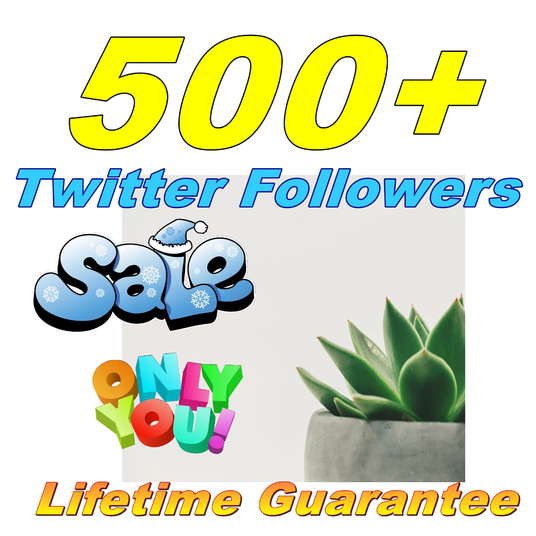 I will Give You 500+ Twitter Followers Lifetime Guarantee
