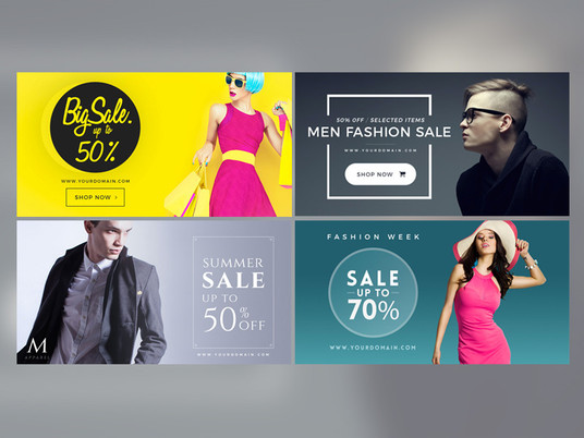 I will design Web banner, Ads, Cover, Header