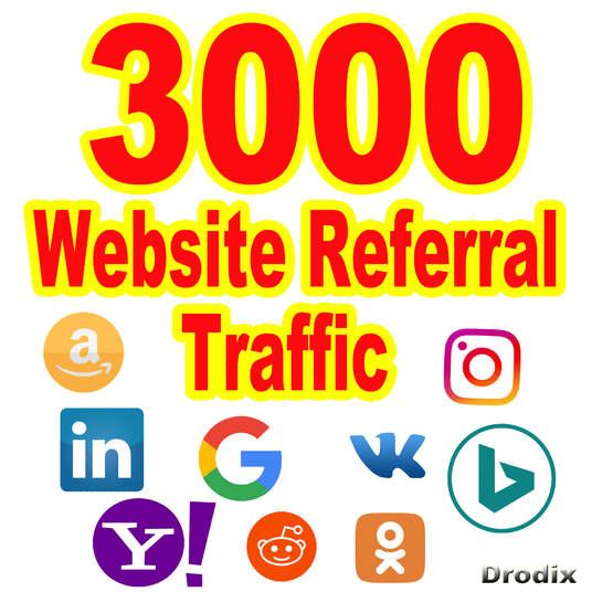 I will send Web traffic 3000 visitors from Referrer sites