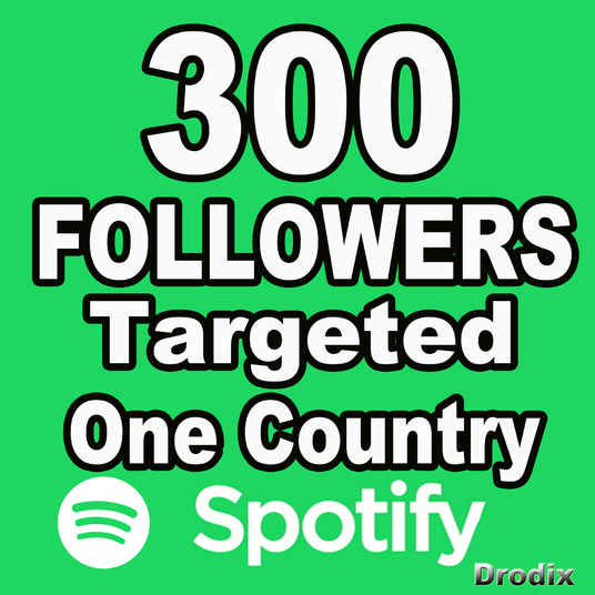 I will Give You 300 Spotify Followers, Targeting One Country
