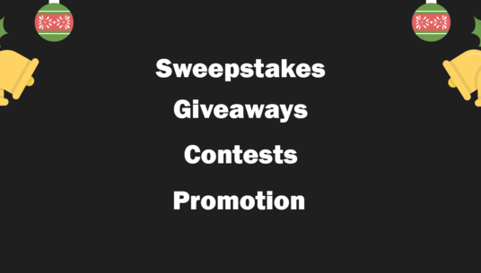 Do Sweepstakes, Giveaway Or Contest Promotion