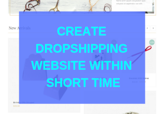 I will Create Wordpress Dropshipping Website Within Short Time