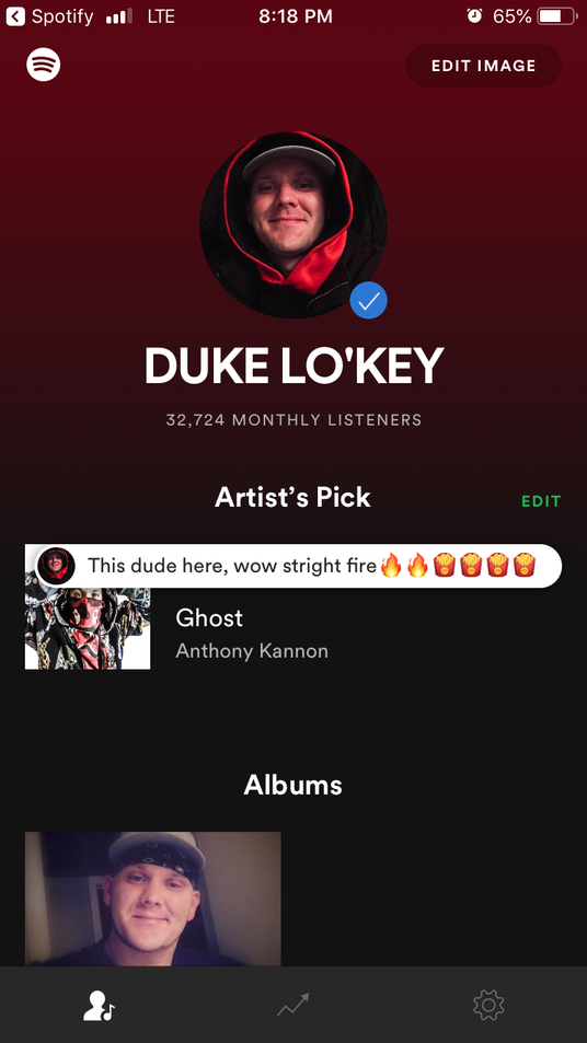 I will Put you on 14 Spotify playlists that get streamed by 250 people all day everyday