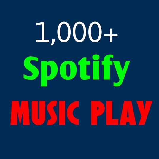 I will provide 1000 Spotify music plays