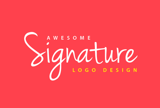 I will do Professional Stylish Signature Logo design