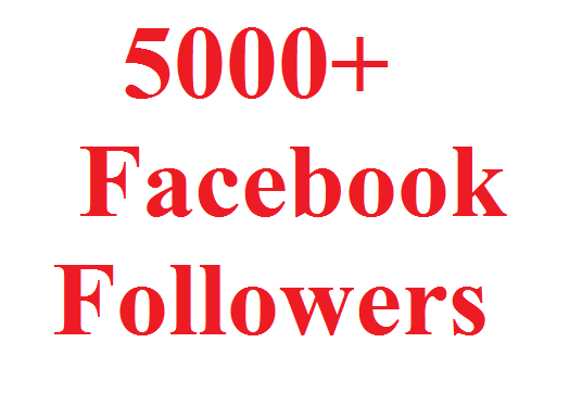 I will give 5000 Facebook Followers
