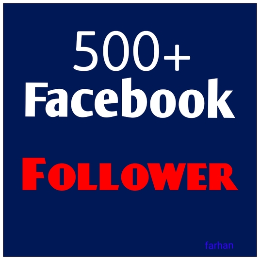 I will deliver real 500 Facebook Follower to your profile