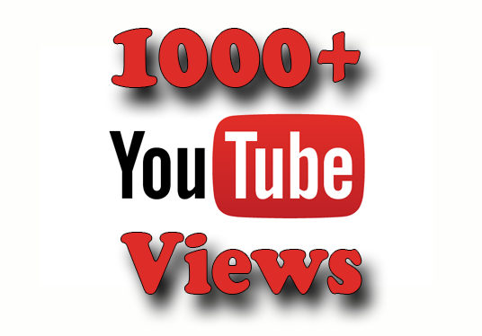 I will add 1000+ High-Quality YouTube  Views And 30 Like With  Lifetime Guarantee