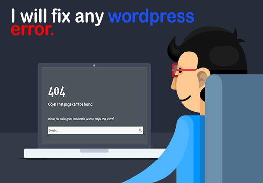 I will fix any Wordpress errors